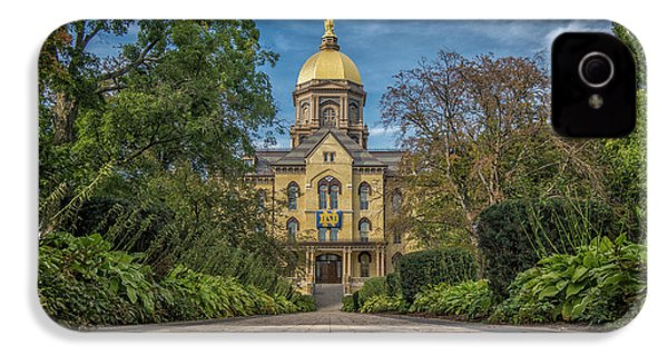 Notre Dame University Q1 IPhone 4 / 4s Case by David Haskett
