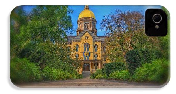 Notre Dame University Q2 IPhone 4 Case by David Haskett