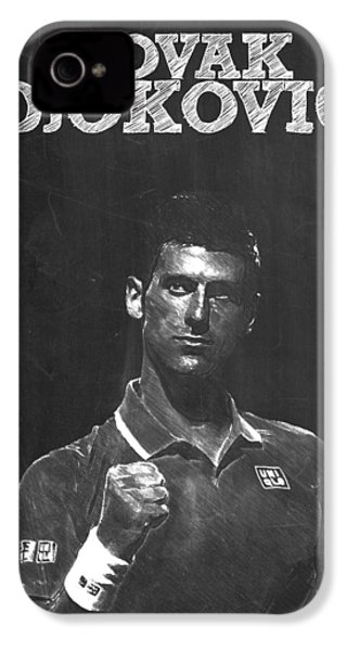 Novak Djokovic IPhone 4 / 4s Case by Semih Yurdabak