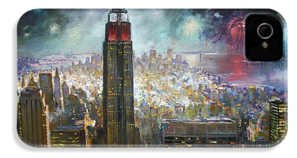 Nyc. Empire State Building IPhone 4 / 4s Case by Ylli Haruni