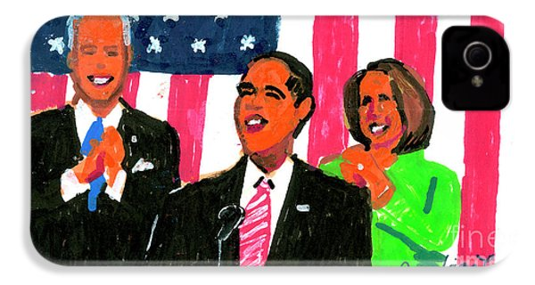Obama's State Of The Union '10 IPhone 4 Case by Candace Lovely