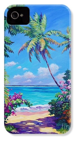 Ocean View With Breadfruit Tree IPhone 4 Case by John Clark