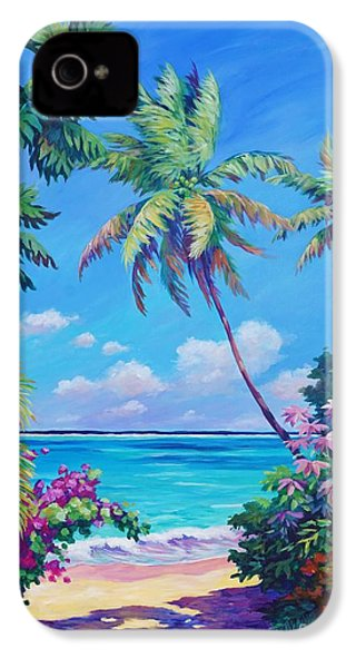 Ocean View With Breadfruit Tree IPhone 4 Case by John Clark