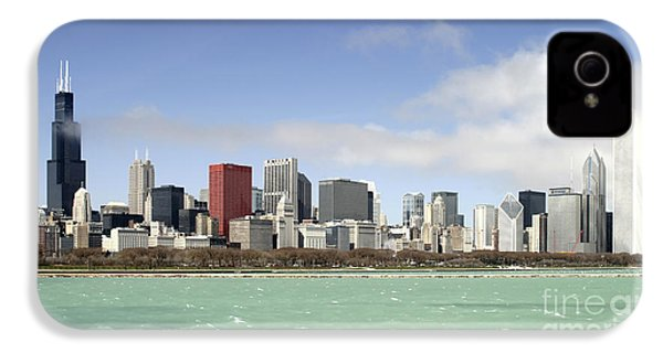 Off The Shore Of Chicago IPhone 4 Case by Ricky L Jones