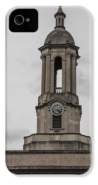 Old Main From Front Clock IPhone 4 Case by John McGraw