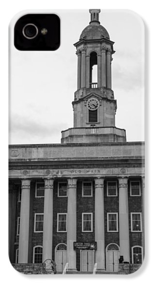 Old Main Penn State Black And White IPhone 4 Case by John McGraw