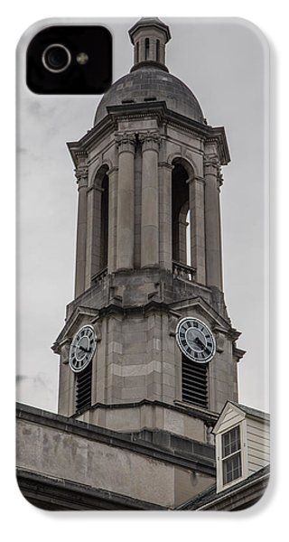 Old Main Penn State Clock  IPhone 4 Case by John McGraw