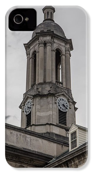 Old Main Penn State Clock  IPhone 4 / 4s Case by John McGraw