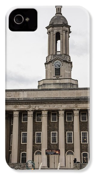 Old Main Penn State From Front  IPhone 4 Case by John McGraw