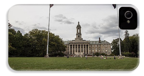 Old Main Penn State Wide Shot  IPhone 4 Case by John McGraw