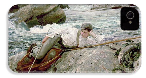 On His Holidays IPhone 4 Case by John Singer Sargent