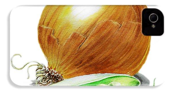 Onion And Peas IPhone 4 / 4s Case by Irina Sztukowski