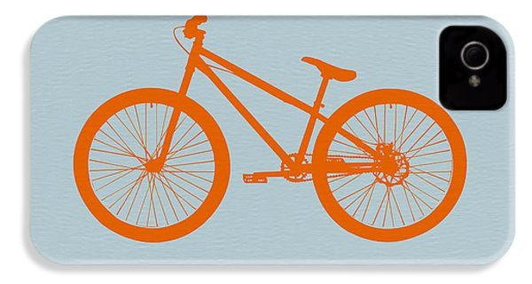 Orange Bicycle  IPhone 4 Case by Naxart Studio
