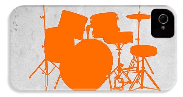 Orange Drum Set IPhone 4 Case by Naxart Studio