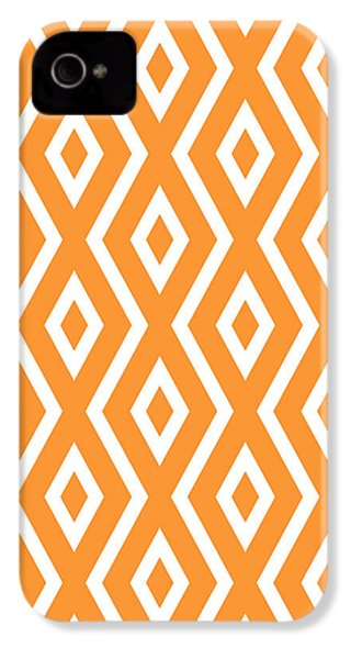 Orange Pattern IPhone 4 Case by Christina Rollo