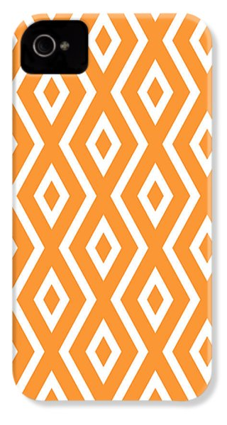 Orange Pattern IPhone 4 / 4s Case by Christina Rollo