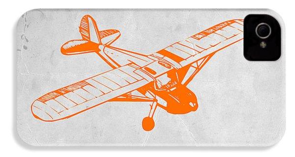 Orange Plane 2 IPhone 4 / 4s Case by Naxart Studio