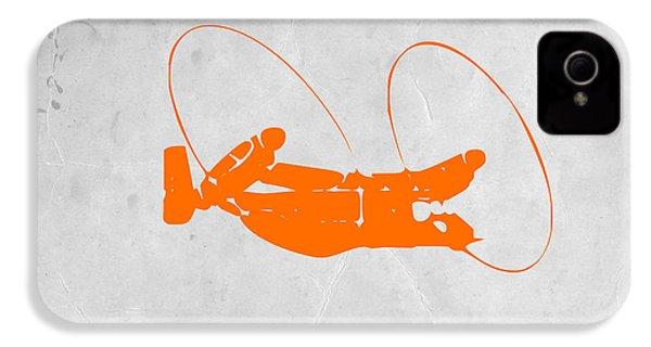 Orange Plane IPhone 4 / 4s Case by Naxart Studio