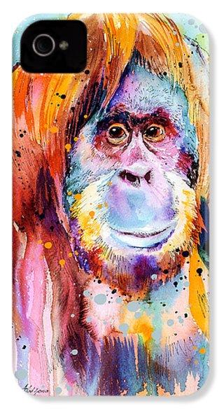 Orangutan  IPhone 4 / 4s Case by Slavi Aladjova