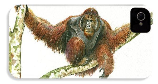 Orangutang IPhone 4 / 4s Case by Juan Bosco