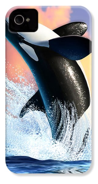 Orca 1 IPhone 4 Case by Jerry LoFaro