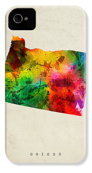Oregon State Map 01 IPhone 4 / 4s Case by Aged Pixel