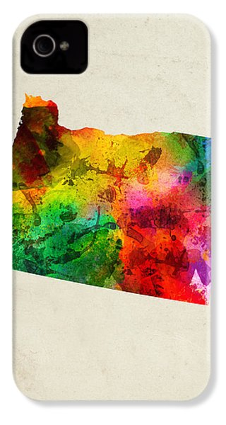 Oregon State Map 01 IPhone 4 Case by Aged Pixel