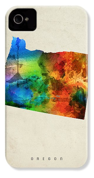 Oregon State Map 03 IPhone 4 / 4s Case by Aged Pixel