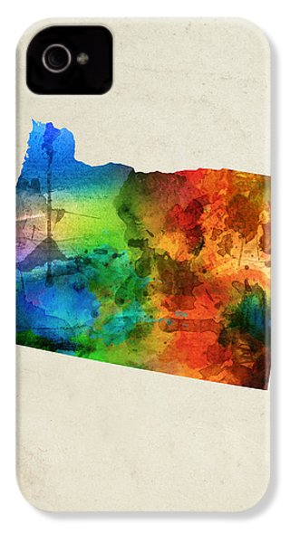 Oregon State Map 03 IPhone 4 Case by Aged Pixel