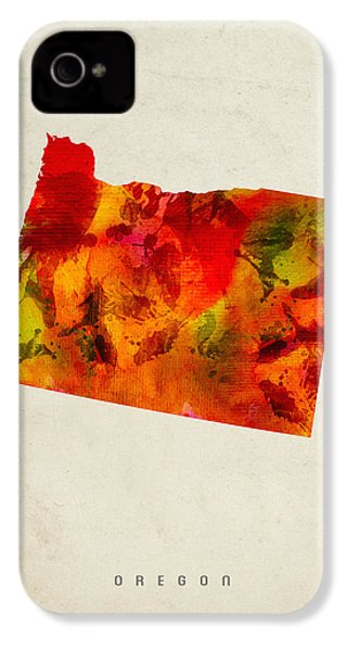 Oregon State Map 04 IPhone 4 / 4s Case by Aged Pixel