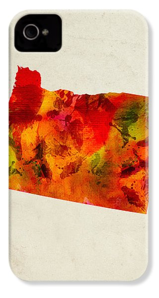 Oregon State Map 04 IPhone 4 Case by Aged Pixel
