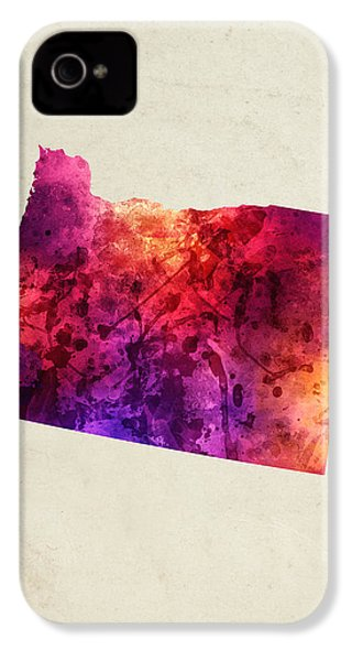 Oregon State Map 05 IPhone 4 Case by Aged Pixel