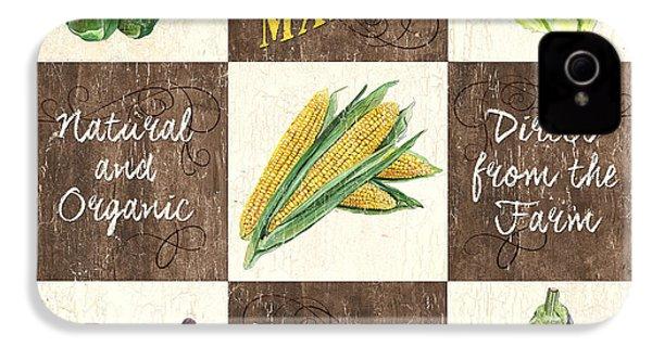 Organic Market Patch IPhone 4 Case by Debbie DeWitt