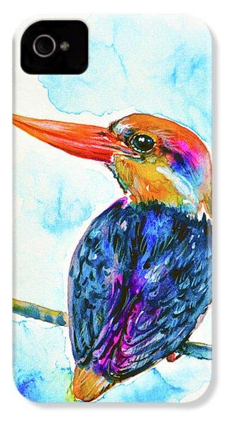 Oriental Dwarf Kingfisher IPhone 4 Case by Zaira Dzhaubaeva