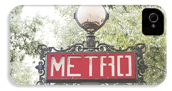 Ornate Paris Metro Sign IPhone 4 Case by Ivy Ho