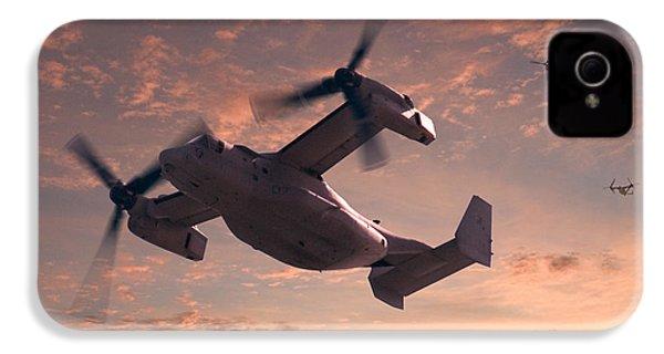 Ospreys In Flight IPhone 4 / 4s Case by Mike McGlothlen
