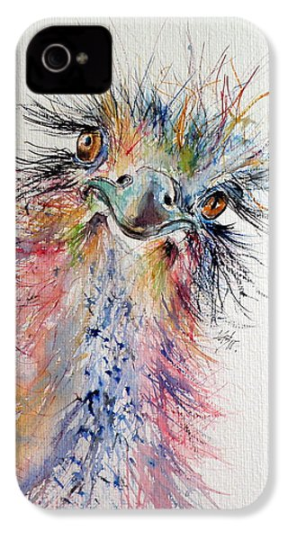 Ostrich IPhone 4 Case by Kovacs Anna Brigitta