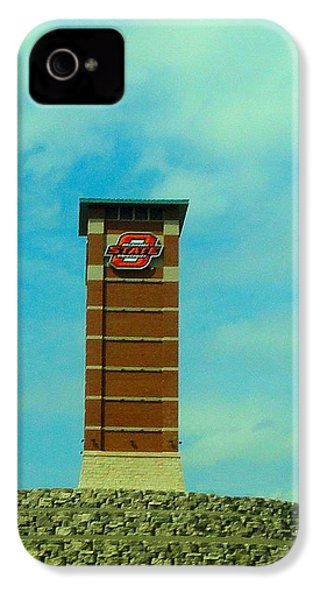 Oklahoma State University Gateway To Osu Tulsa Campus IPhone 4 Case by Janette Boyd