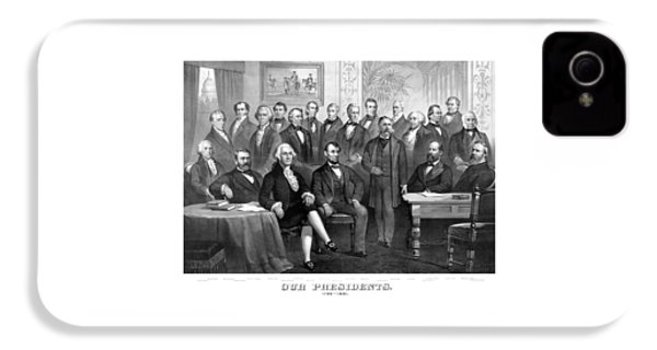 Our Presidents 1789-1881 IPhone 4 Case by War Is Hell Store
