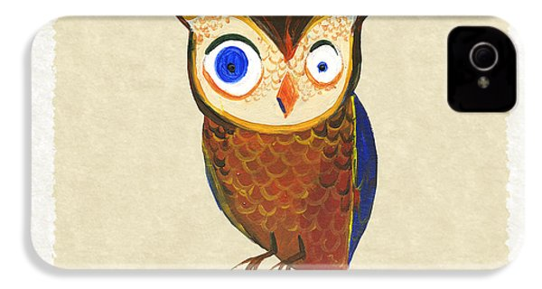 Owl IPhone 4 Case by Kristina Vardazaryan