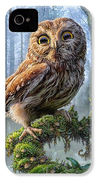 Owl Perch IPhone 4 Case by Phil Jaeger