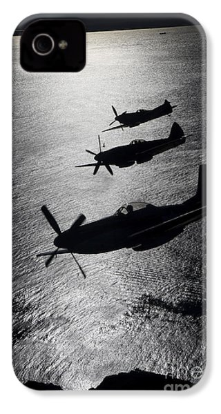 P-51 Cavalier Mustang With Supermarine IPhone 4 Case by Daniel Karlsson