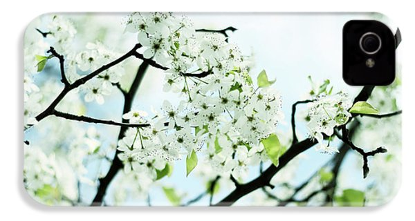 IPhone 4 Case featuring the photograph Pale Pear Blossom by Jessica Jenney