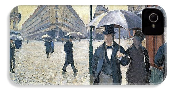 Paris A Rainy Day IPhone 4 / 4s Case by Gustave Caillebotte