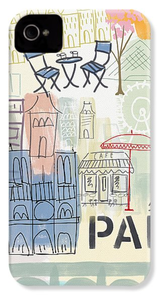 Paris Cityscape- Art By Linda Woods IPhone 4 Case by Linda Woods