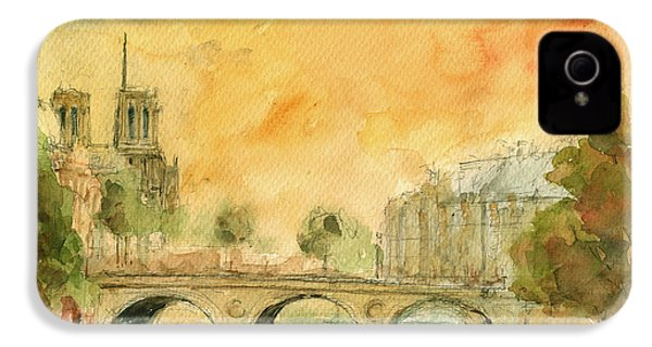 Paris Notre Dame IPhone 4 / 4s Case by Juan  Bosco
