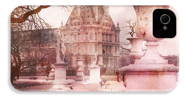 Paris Tuileries Park Garden - Jardin Des Tuileries Garden - Paris Tuileries Louvre Garden Sculpture IPhone 4 / 4s Case by Kathy Fornal