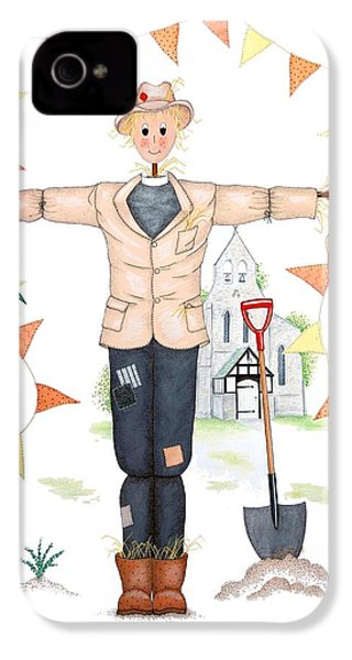 Parson Scarecrow IPhone 4 / 4s Case by Sandra Moore