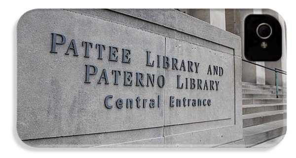Paterno Library At Penn State  IPhone 4 Case by John McGraw