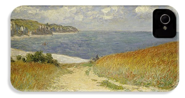 Path In The Wheat At Pourville IPhone 4 Case by Claude Monet